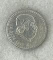 1947 - 1948 1 UN PESO MEXICO .500 SILVER Circulated