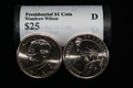 "Presidential Dollar: Woodrow Wilson (28th President)  ""D"" MINT ROLL"