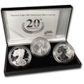 2006-W ( 3-Coin) Silver Eagle Set w/Box & CoA 20th Anniversary