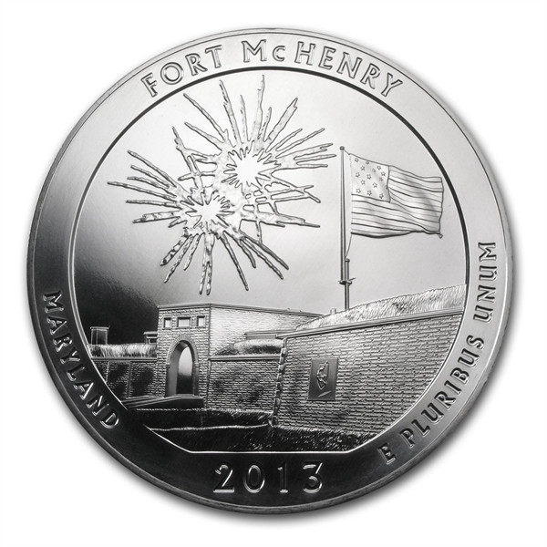 2013 5oz Silver ATB Fort McHenry National Park Maryland