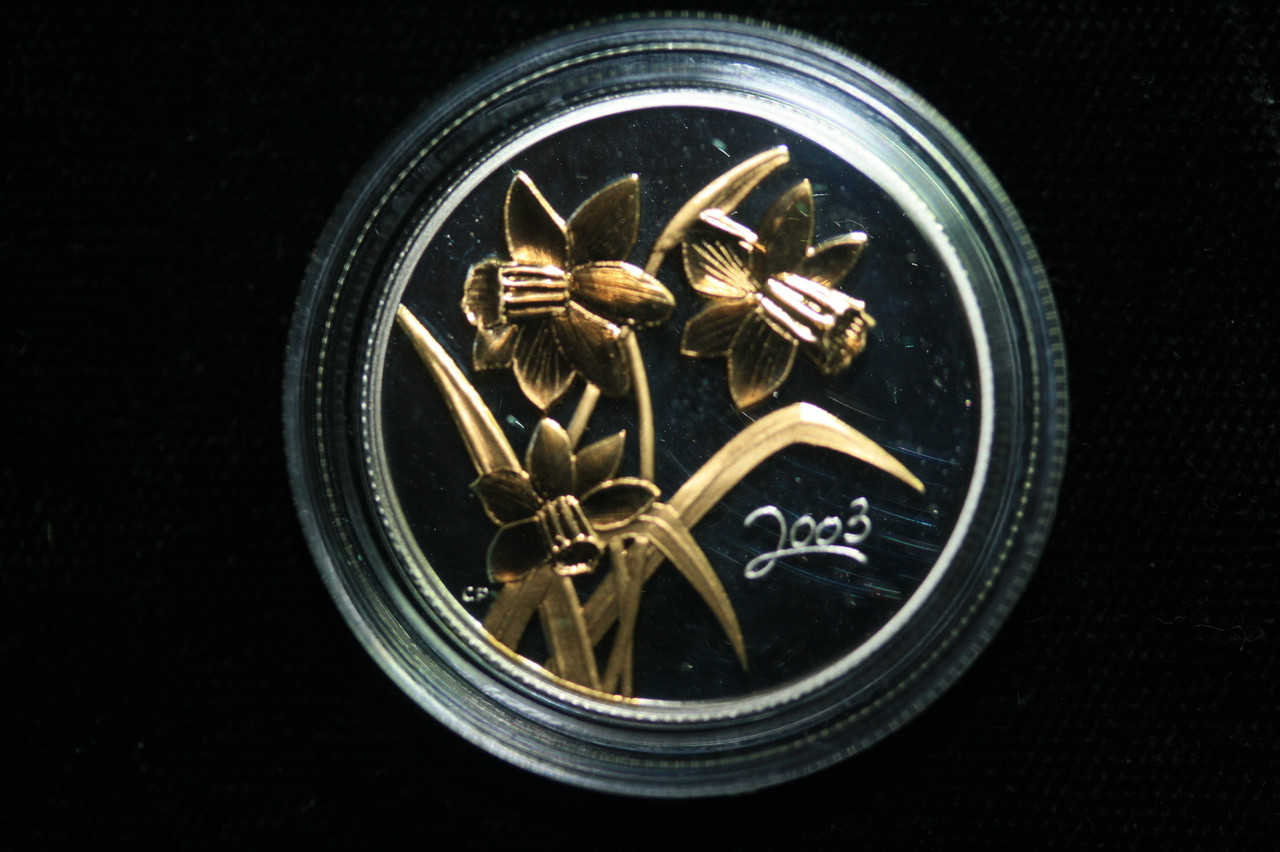 2003 Golden Daffodil Sterling Silver 50-Cent Coin
