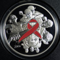 2006  Canada Pink Ribbon Pure Silver $5 dollar coin