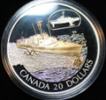 2003 Canada Transportation $20 Silver Ship Series   - The HMCS Bras d'or