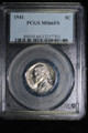 1941 JEFFERSON NICKEL COIN PCGS MS66 FS #7703