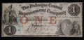 $1 OBSOLETE BROKEN BANK NOTE PAPER MONEY (DUBUQUE CENTRAL IMPROVEMENT COMPANY) #N056