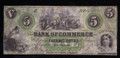 $5 OBSOLETE BROKEN BANK NOTE PAPER MONEY (NEWBERN STATE OF SOUTH CAROLINA) #N061