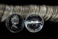 1967 CANADA ROLL OF 10 CENT SILVER DIMES PROOFLIKE COINS (50 COINS)