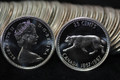 1967 CANADA ROLL OF 25 CENT SILVER QUARTERS PROOFLIKE COINS (40 COINS)