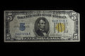 $5 1934 A SILVER CERTIFICATE (NORTH AFRICA) PAPER MONEY FINE