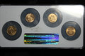 WORLD COIN GOLD COLLECTION G.B. SWISS FRANCE NETHERLAND .8035 TOTAL GOLD OUNCES NGC GRADED