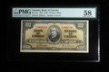 1937 $100 BANK OF CANADA GORDON/TOWERS PAPER MONEY NOTE PMG AU58