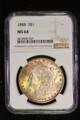 1888 SILVER MORGAN DOLLAR COIN NGC MS64  MONSTER TONING #35-037