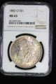 1882 O SILVER MORGAN DOLLAR COIN NGC MS63 MONSTER TONING #39-026