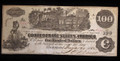 1862 $100 CONFEDERATE PAPER MONEY NOTE T-40 ALMOST UNC #19893