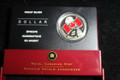 2005 Canada Limited Edition Frosted Proof Red Enamel National Flag Proof Silver Dollar