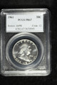 1961 FRANKLIN SILVER HALF DOLLAR COIN PROOF PCGS PR67 #70545