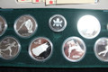 1988 CANADA CALGARY OLYMPICS $20 SILVER PROOF COINS SET OF 10 WITH CASE/COA'S