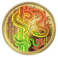 2001 CANADA $150 YEAR OF THE SNAKE GOLD HOLOGRAM COIN (0.328 TROY OZ GOLD)