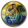2004 CANADA $150 YEAR OF THE MONKEY GOLD HOLOGRAM (0.285 TROY OZ GOLD)