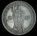 1925 F 5 MARK 2ND REICH WEIMAR REPUBLIC GERMANY EXTRA FINE #G2001