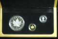 1989 Canada 3-Metals Maple Leaf Set (10th Anniv, w/Box & COA)