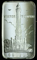 1oz .999 FINE SILVER BAR (WATER TOWER) FIRST NATIONAL BANK OF CHICAGO