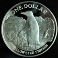 1988 New Zealand Silver Dollar Penguin Proof (w/Box & COA)