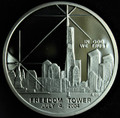 NORTHERN MARIANA ISLANDS $1 2004 Silver-Clad Proof WTC & Freedom Tower