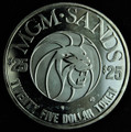 MGM Sands $25 Gaming Token 1.5 oz .999 Fine Silver