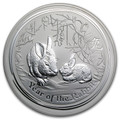 2011 KILO 32.15 TROY OUNCE AUSTRALIA SILVER YEAR OF THE RABBIT .999 FINE SILVER