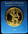 1977 Panama Proof Gold 500 Balboas