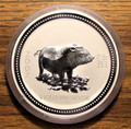 2007 Australian Lunar Year of the Pig 1 kilo 999 Silver Coin