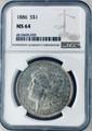 1886 Morgan Dollar NGC MS-64