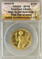 2015 $100 American Liberty High Relief Gold Coin