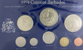 1974 Barbados Specimen set