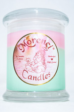 This is a fun blend of tart fizzy limes and sweet pink berries blended together for a fruity fresh scent. (Color-Fizz Green with a Petal Pink Crown)