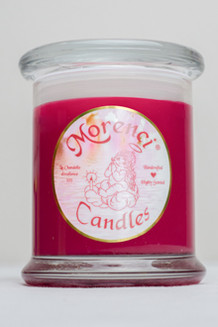 A candle full of all the hot spices and an extra splash of very spicy red hot cinnamon.  (Color-Hot Red)