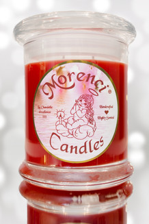 """Freshly sliced apples and pears from the orchard, tossed with fresh peeled green grapes drizzled lightly with a tart but slightly sweet golden fig glaze.  A lovely fruit """"scent-sation""""!  (Color-Candy Apple Red with Yellow Crown)"""