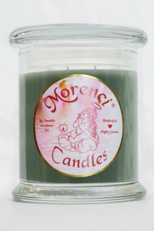 A fragrant woodsy blend from the New Mexico mountains of Pinon Woods chopped and burning in the fireplace. (Color-Dark Sage Green)