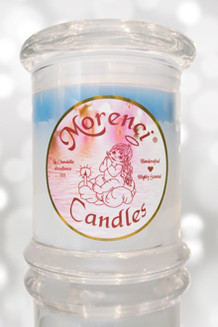 12 OZ. Round--Fresh snowy winter wonderland, peacefully silent.  Clean crisp woodsy notes with undertones of fragrant Spruce berries and  branches.  Color Winter White with a Blue Crown
