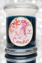 A masculine scent for that special man in your life to decorate his eminent domain The Man Cave.  Woodsy campfire notes blended into country spices and a tinge of vanilla pipe tobacco to round it out for the illusion of  manliness and perfection. Color- Blue Denim