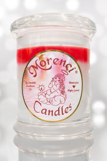 Cool, crisp, sweet & sticky peppermint candy. (White w/ Red Crown)