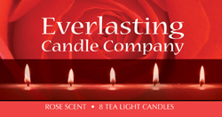 Candle Label red