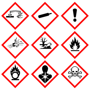 print your own GHS chemical labels with color label printers from OptimediaLabs.com
