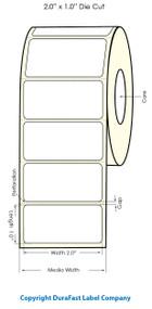"Primera LX900 2"" x 1"" White Polyester Labels PT75900"
