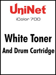 iColor 700 White toner and drum cartridge kit