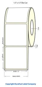 """Primera LX810 1""""x6"""" Matte Polypropylene Labels 933017"""