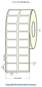 Epson 1.5 x 1 High Gloss Label for TM-C3400 & TM-C3500s
