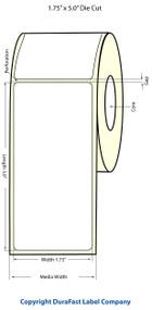 """Epson 1.75"""" x 5"""" High Gloss Label for TM-C3400 & TM-C3500"""
