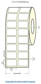 Epson 1.5 x 1 Matte Polypropylene Labels for TM-C3400 & TM-C3500